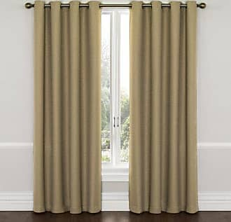 Eclipse Blackout Curtains for Bedroom - Wyndham 52 x 63 Insulated Darkening Single Panel Grommet Top Window Treatment Living Room, Latte