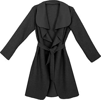 Parsa Fashions Malaika Womens Ladies Waterfall Long Full Sleeves Cape Cardigan Belted Jacket Trench Coat - Available in PLUS SIZES UK 8-20 (Onesize (UK 8-14), Brushe