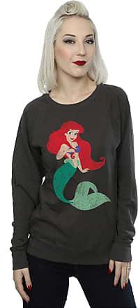 Disney Princess Womens Classic Ariel Sweatshirt XX-Large Light Graphite
