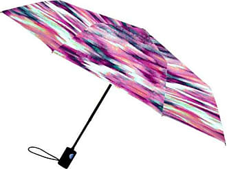 Nicole Miller 42 Inch Auto Open Supermini Umbrella, Pixel 1 Kat Print, One Size
