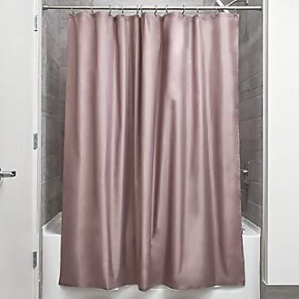 InterDesign Fabric Shower Curtain, Water-Repellent and Mold- and Mildew-Resistant Liner for Master, Guest, Kids, College Dorm Bathroom, 72 x 72, Dark Taupe