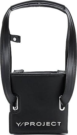Y / Project Accordian leather shoulder bag