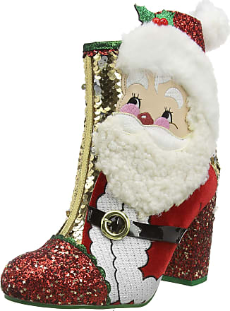 Irregular Choice Womens The Kringles Ankle Boots, Gold (Gold/Red A), 7.5 (41 EU)