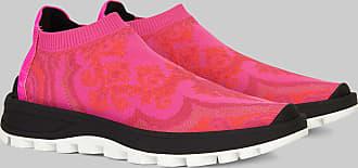 Etro Jacquard Sock Sneakers, Woman, Fuchsia, Size 35