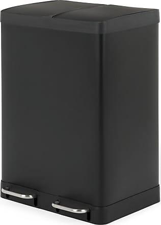 MADE.COM Colter Recycling-Doppelmuelleimer (60 L), Mattschwarz