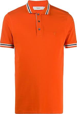 Pringle Of Scotland Camisa polo de algodão clássica - Laranja