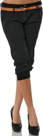 Yvelands Women Casual Fashion Solid Ladies Short Pant Capri Pants Casual Chino Pants Solid Trouser Black