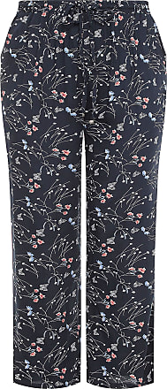 Yours Clothing Clothing Womens Wide Leg Trousers Size 16 Navy