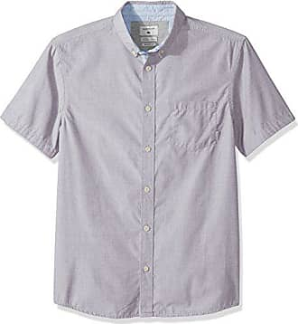 Quiksilver Mens Valley Groove Short Sleeve, Silver Sconce, S