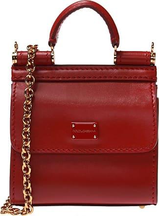 Dolce & Gabbana Sicily 58 Shoulder Bag Womens Red