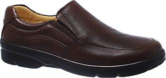 Doctor Shoes Antistaffa Sapato Masculino Esporão 5300 em Couro Floater Café Doctor Shoes-Café-38