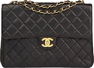 70cef2acc55b Chanel 1996 Chanel Black Quilted Lambskin Vintage Jumbo Classic Single Flap  Bag