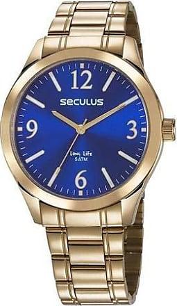 Seculus Relógio Seculus Masculino Ref: 23656gpsvda2 Casual Dourado