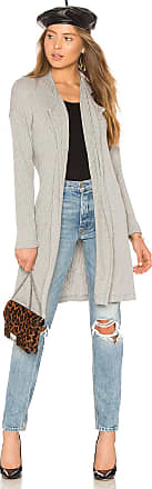Splendid Sylvie Rib Cardigan in Gray