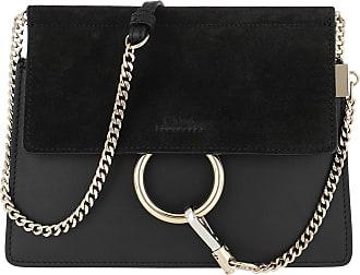 Chloé Faye Mini Flap Shoulder Bag Black Umhängetasche schwarz