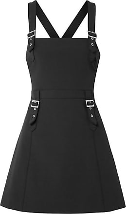 Opening Ceremony William Buckled Stretch-cady Mini Dress - Black