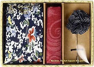 29dea7c3b440 Original Penguin Mens Sommers 3-Piece Floral Tie, Pocket Square & Lapel Pin  Box