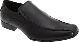 US Brass Mens Raven Twin Gusset Shoes (14 UK) (Black)