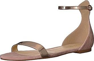 Ivanka Trump Womens Camryn Flat Sandal, Pink/Multi Suede, 9 M US