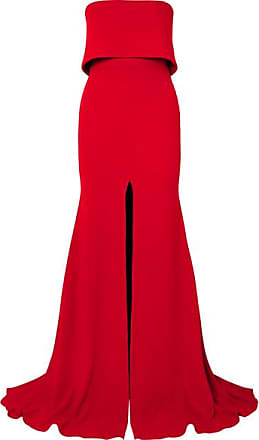 11afe69c33c Alex Perry Strapless Split-front Crepe Gown - Red