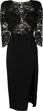 Elisabetta Franchi lace panel midi skirt - Preto