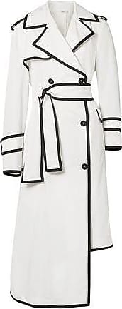 Thom Browne Thom Browne Woman Double-breasted Asymmetric Shell Trench Coat White Size 38