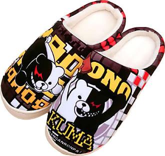 Cosstars Danganronpa Anime Anti-slip Home Slippers Cute Plush Warm Indoor Shoes