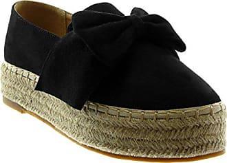 5cd8b7f3ac3da6 Angkorly Damen Schuhe Espadrilles - Slip-On - Plateauschuhe - Seil -  Geflochten - Knoten