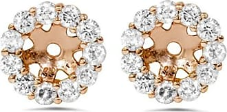 Pompeii3 45CT Halo Diamond Earring Jackets 14K Rose Gold Fits.25CT Stones (4MM)