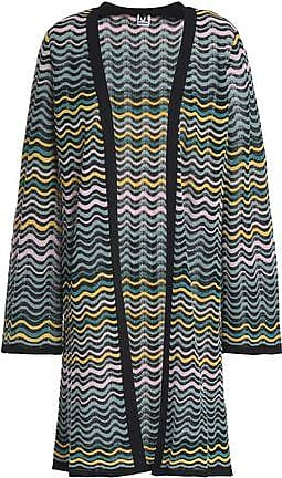 3d5b31bbd18b M Missoni M Missoni Woman Crochet-knit Cotton-blend Cardigan Multicolor  Size 40