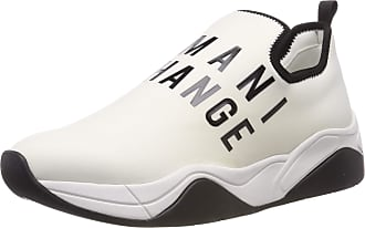 A X Armani Exchange Womens Neoprene lace up Sneaker Trainers, White (White 00001), 4 UK