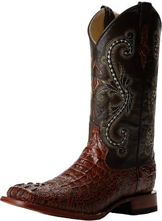 Ferrini Mens Print Crocodile S-Toe Western Boot,Sport Rust,8.5 D US