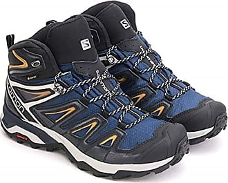 Salomon Mens Shoes X Ultra High Rise Hiking Boots, Dark Blue Orange, 11.5 UK