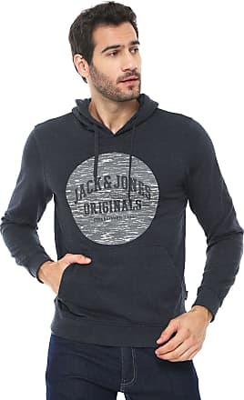 Jack & Jones Moletom Flanelado Fechado Jack & Jones Originals Grafite