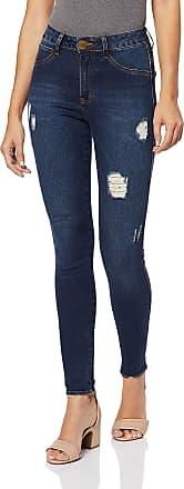Eventual Calça Jeans Mid Rise Skinny, Eventual, Feminino, Azul, 44