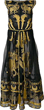 Yuliya Magdych Dayspring Horse embroidered dress - Black