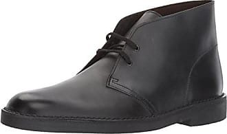 Clarks Mens Bushacre 2 Ankle Boot, Black Waxy Leather, 11.5 M