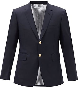 Thom Browne Single-breasted Wool-twill Jacket - Mens - Navy