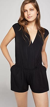 BCBGeneration Deep V-Neck Slit-Back Shorts Romper
