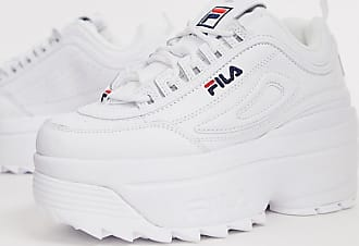 Fila Disruptor II platform wedge trainers in white