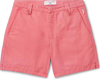 Orlebar Brown + 007 Thunderball Cotton And Linen-blend Shorts - Pink