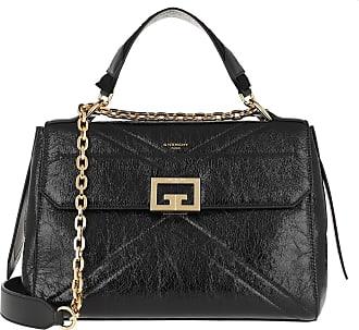 Givenchy Satchel Bags - ID Medium Bag Crackling Leather Black - black - Satchel Bags for ladies