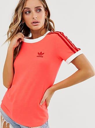 adidas Originals adicolor three stripe t shirt in white