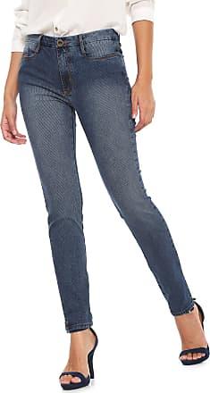 Enna Calça Jeans Enna Slim Canelada Azul