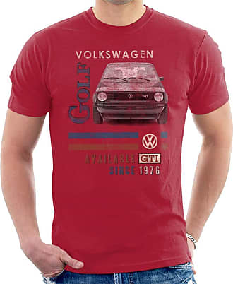 Volkswagen GTI 1976 Mens T-Shirt Cherry Red