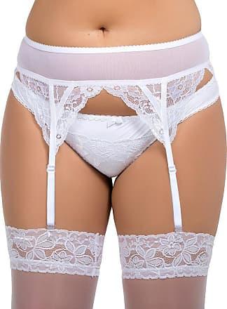 Nine X Floral Lace & Mesh Garter Belt S-8XL, 8-30UK, 3 Colours Suspender Belt White 3XL