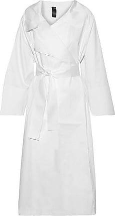 Norma Kamali Norma Kamali Woman Belted Cotton-poplin Coat White Size XS