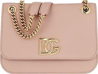 Dolce & Gabbana DG Millennials Crossbody Bag Leather Cipria Umhängetasche rosa
