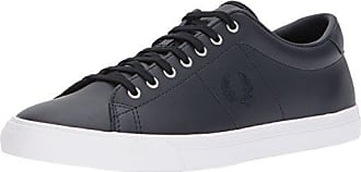 Fred Perry Mens Underspin Leather Sneaker, Navy, 10 D UK (11 US)