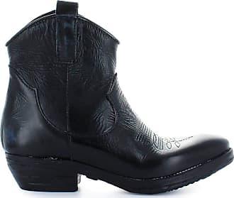 Zoe Fashion Woman N200BLACK Black Leather Ankle Boots | Season Outlet